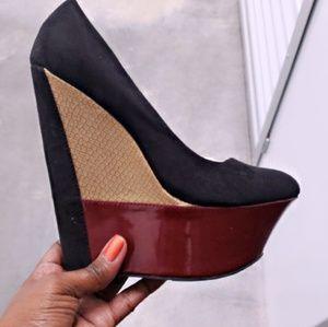 Shoes - Tri tone wedge
